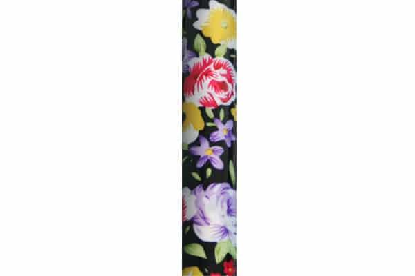 Baston Aluminio Plegable Negro con Flores
