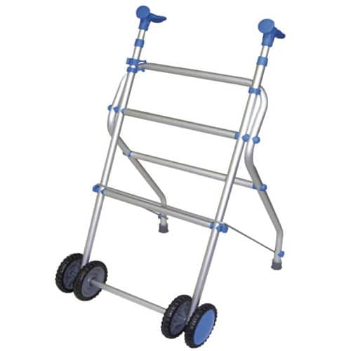 andador con ruedas azul