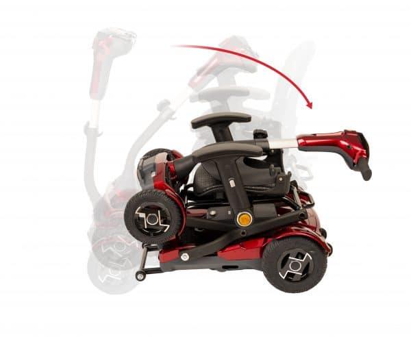 scooter plegable apoyabrazos