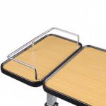 mesa con 2 bandejas con ruedas
